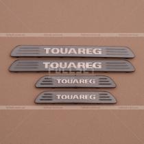 Вставки порогов темные Volkswagen Touareg (2010-...)