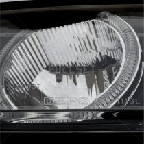 Передняя головная оптика с линзой и неоновой подсветкой вокруг линз