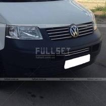 Хром-полоски на решетку радиатора Volkswagen Transporter T5 (04-09)