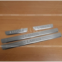 Накладки порогов Mitsubishi Lancer 9 (03-09)