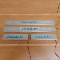 Накладки на пороги Hyundai Accent 06-09