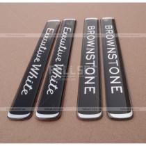 3D эмблемы Brownstone, Executive White (цена за 1 шт)