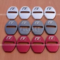 Хромированные, черные и красные накладки на петли дверных замков с логотипом R