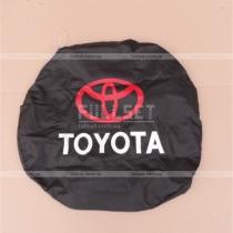 Чехол запасного колеса с эмблемой и надписью Toyota