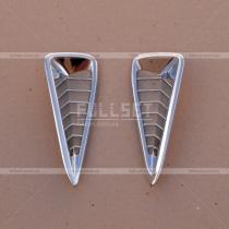 Накладки на решетки бампера Toyota Camry v50