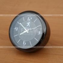 Декоративные часы с эмблемой Peugeot, диаметр 4 см