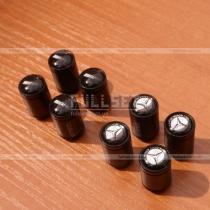 Колпачки на колесные ниппеля в черном цвете с эмблемами Mercedes Benz, AMG black