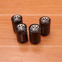 Колпачки на ниппеля черные с эмблемой Фольксваген