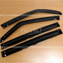 Ветровики на двери Mitsubishi Pajero Wagon 3 (00-06)