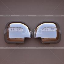 Накладки на зеркала с поворотами Mitsubishi Pajero Wagon 3 (00-06)