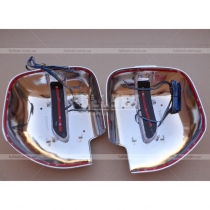 Хромированные колпаки на зеркала со встроенным светодиодным указателем поворотов