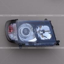Фары черные с линзой Toyota Land Cruiser 100 (98-07)