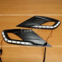 Крышки переднего бампера с диодами Hyundai Elantra 2011-...