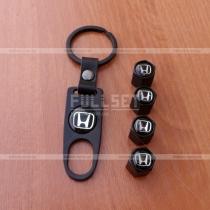 Колпачки на ниппеля Honda черные