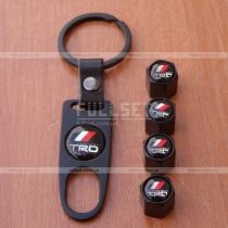 Комплект колпачков на ниппеля ТРД черные с брелком