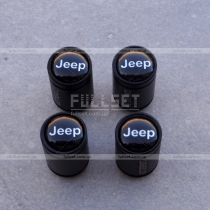 Колпачки на ниппеля Jeep черные