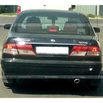 Хромированная планка над номером на крышку багажника