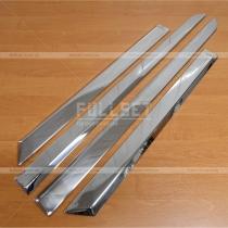 Стальные никелированные накладки на дверные молдинги Astra H