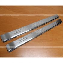 Вставки на внутренние пороги Опель Астра купе 2 двери