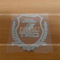 Хромированная наклейка-герб Тойота