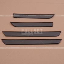 Накладки карбон на дерные карты Mitsubishi Pajero Wagon 4 (08-13)