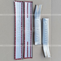 Стальные, защитные накладки порогов салона на внутреннюю часть, на пластик