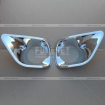 Хром накладки противотуманных фар Toyota Rav 4 (2013-...)