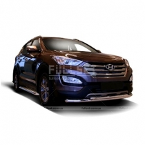 Передняя защита Hyundai Santa Fe (2013-...)