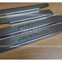 Накладки на пороги Toyota Avensis (09-14)