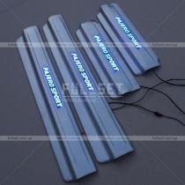 Пороги с подсветкой Mitsubishi Pajero Sport (2010-...)