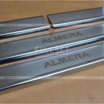 Накладки на пороги Nissan Almera Classic