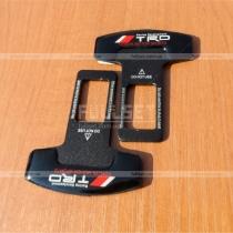 Защелки для ремней пристегивания черные с наклейкой TRD