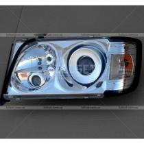 Передние фары 2 линзы, хром Mercedes W124 (86-95)