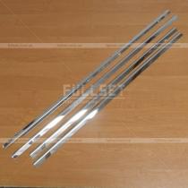 Молдинги стекол Mitsubishi Lancer X (07-14)