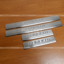 Порожки в салон Toyota Corolla (2013-...)