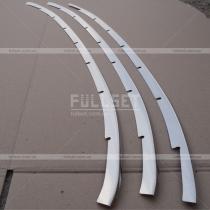 Хром накладки на решетку переднего бампера (нержавеющая сталь)