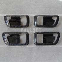 Накладки на ручки салона карбоновые Mitsubishi Pajero Wagon 4 (08-13)