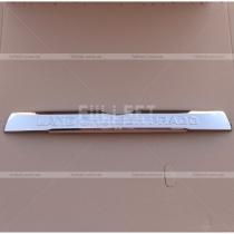 Хром накладка над номером на крышку багажника с выдавленными буквами Land Cruiser Prado