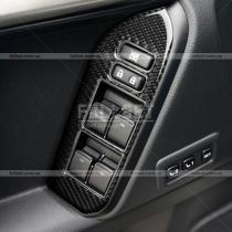 Карбоновые накладки на блок стеклоподъемников Toyota Prado 150 (2018-...)