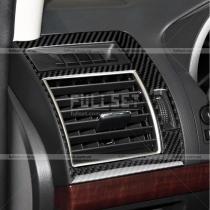 Накладки на воздухообдувы салона карбоновые Toyota Prado 150 (2018-...)