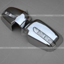 Хром-накладки на зеркала со встроенным указателем поворотов