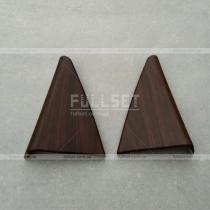 Накладки под дерево на дверные треугольники Toyota Prado 150 (08-12)