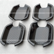 Накладки под дверные ручки (мыльницы) с имитацией карбонового волокна