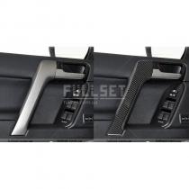 Накладки на поручни дверей из натурального карбонового волокна (комплект 4 шт)
