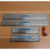 Накладки на пороги Toyota Prado 150 (08-12)