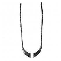 Карбоновые (натуральный карбон) накладки-полоски на зеркала (размер: 215 мм, 37 мм)