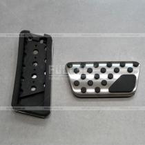 Алюминиевые накладки на педали с полиуретановыми вставками Wrangler (07-17)