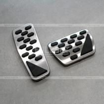 Штатные накладки педалей (алюминий+полиуретан вставка) Wrangler (2018+)