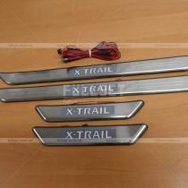 Накладки на пороги Nissan X-Trail (07-13)