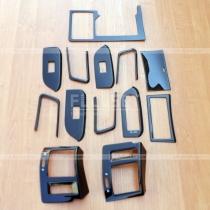 Накладки в салон черные Toyota Prado 150 (08-12)